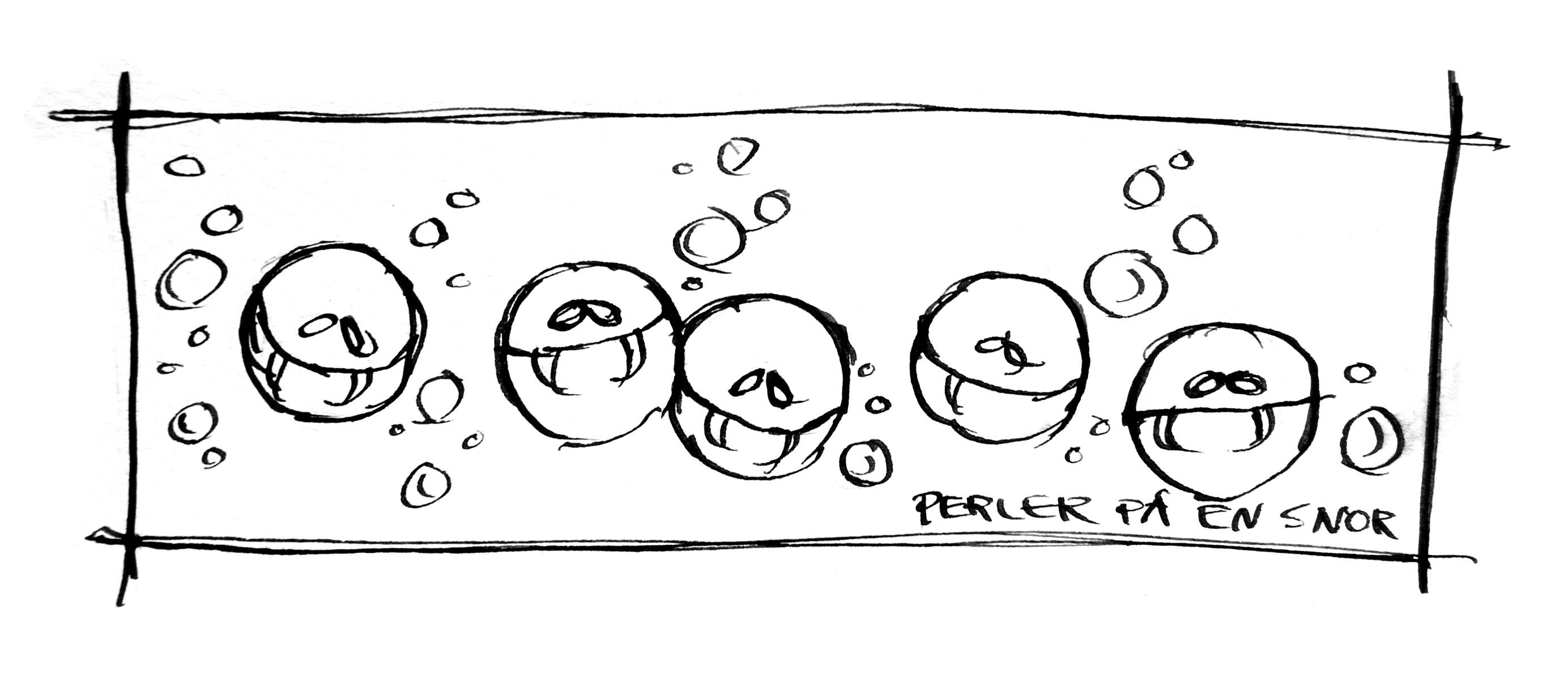 Perler på en snor